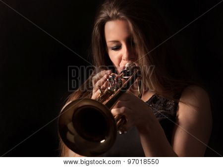 Trumpet Playing Women