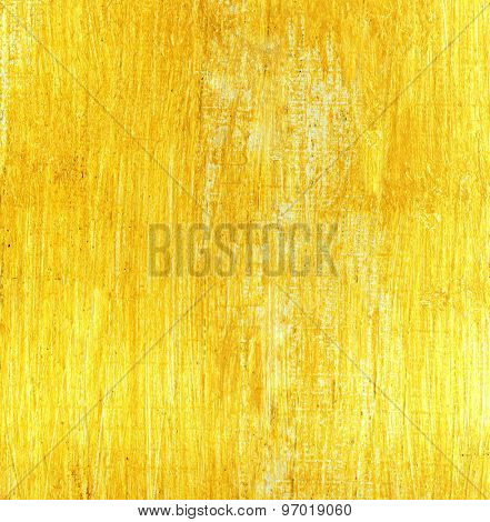Texture of paper coated with yellow paint