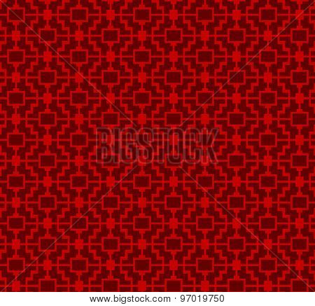 Seamless Chinese window tracery square lattice geometry pattern background.