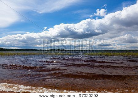 Summer Landscape With Lake And Sky