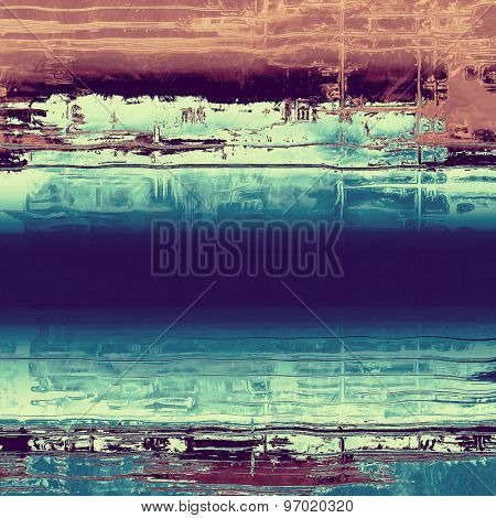 Old school textured background. With different color patterns: brown; purple (violet); blue; cyan
