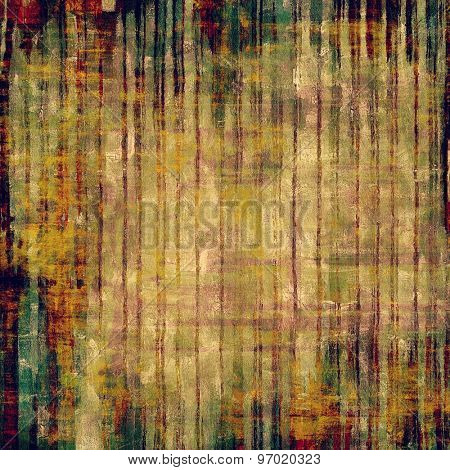Old, grunge background or ancient texture. With different color patterns: yellow (beige); brown; green; red (orange)