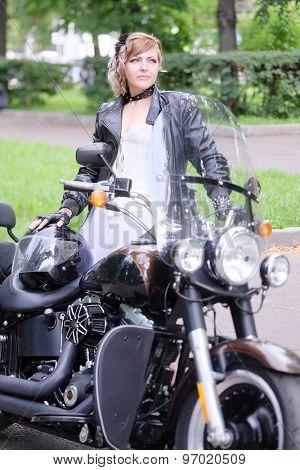 Portrait of a nonconformist motorcyclist