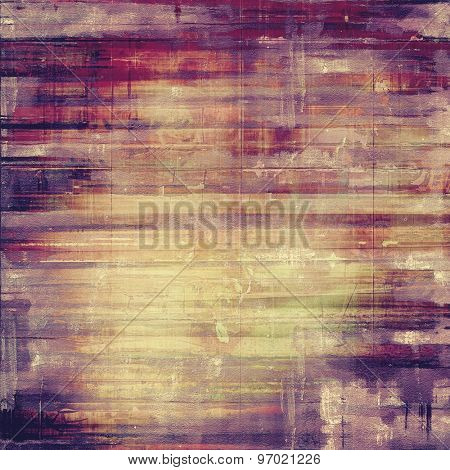 Old abstract texture with grunge stains. With different color patterns: yellow (beige); brown; purple (violet); pink