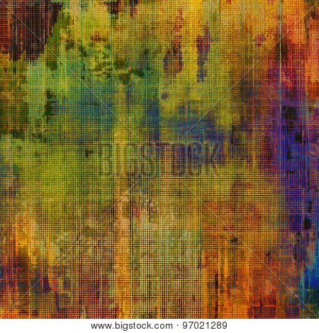 Colorful designed grunge background. With different color patterns: yellow (beige); brown; purple (violet); green; red (orange)