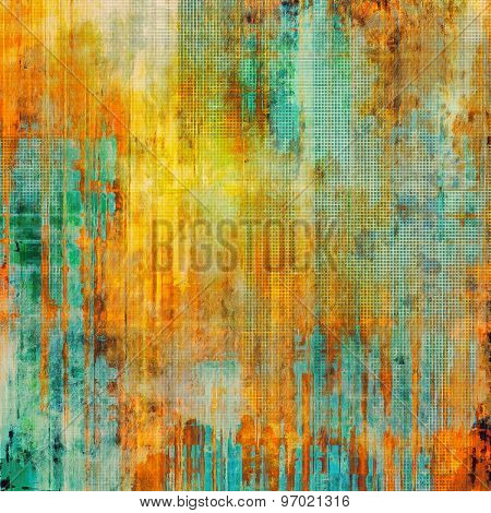 Beautiful antique vintage background. With different color patterns: yellow (beige); blue; green; red (orange)