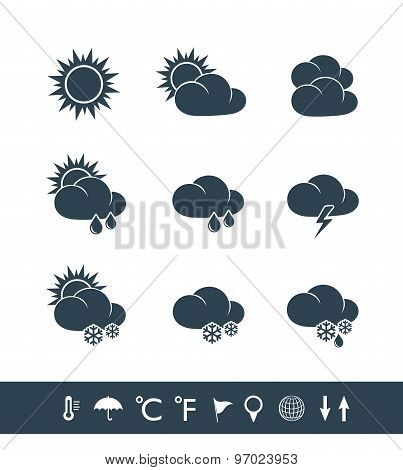 Weather Icons Black And White
