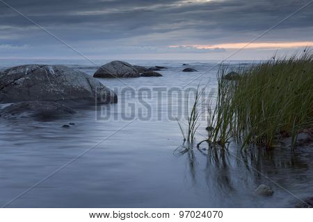 Calm Ocean With Rocks