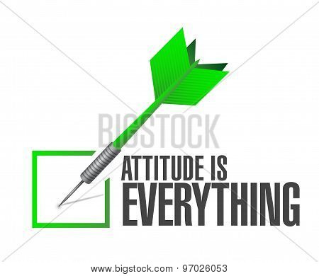 Attitude Is Everything Approve Check Sign Concept