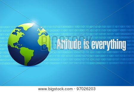Attitude Is Everything International Sign Concept