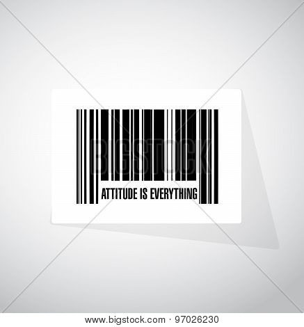 Attitude Is Everything Barcode Sign Concept