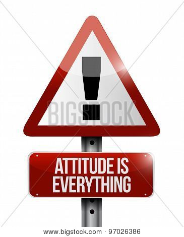 Attitude Is Everything Warning Sign Concept