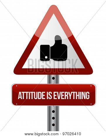 Attitude Is Everything Like Road Sign Concept
