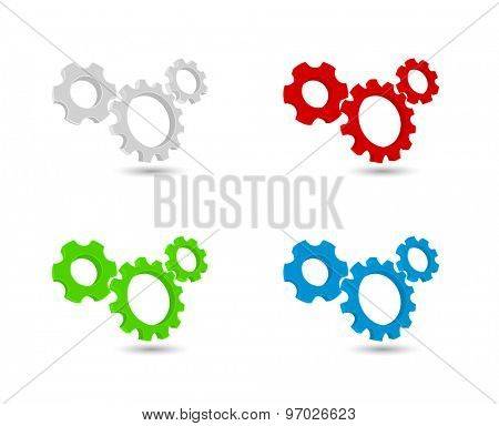 gears cogs icon working mechanism