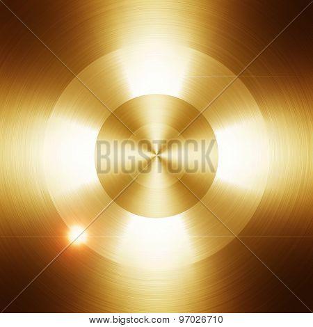 golden metal with round pattern