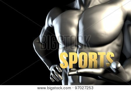Sports With a Business Man Holding Up as Concept