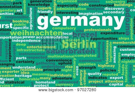 Germany as a Country Abstract Art Concept