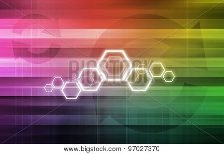Chemical Formula with Molecule Composition as Art