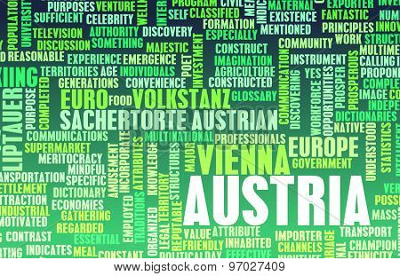 Austria as a Country Abstract Art Concept