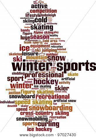Winter Sports Word Cloud