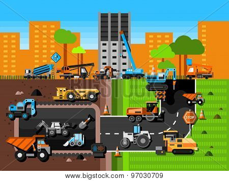 Construction Machines Composition