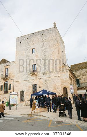 Torre Civica In Cisternino, Puglia, South Italy