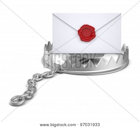Envelope in bear trap