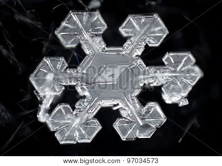 Sector plate-shaped snowflake