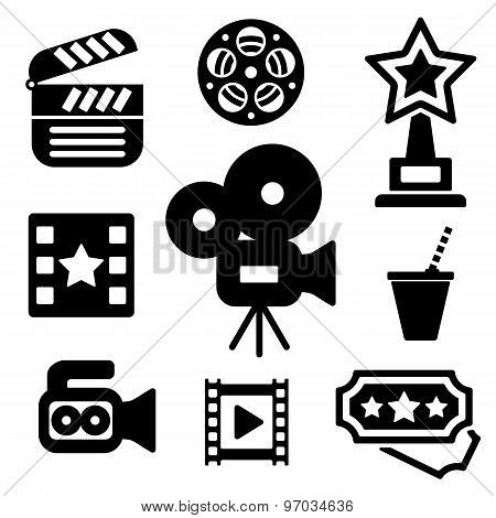 Cinema Web And Mobile Logo Icons Collection