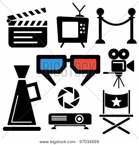 Cinema Web And Mobile Logo Icons