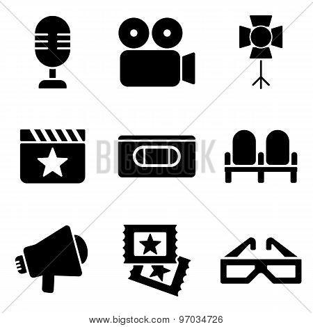 Cinema Web And Mobile Logo Icons Collection