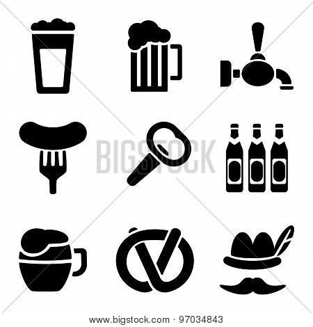 Beer Web And Mobile Logo Icons Collection