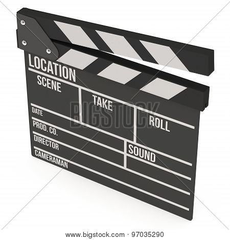 Cinema Clapperboard 3D