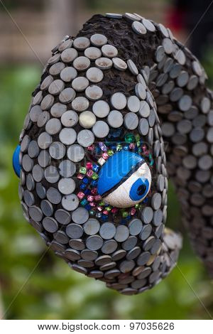A Sequen Sculpture Of A Birds Head