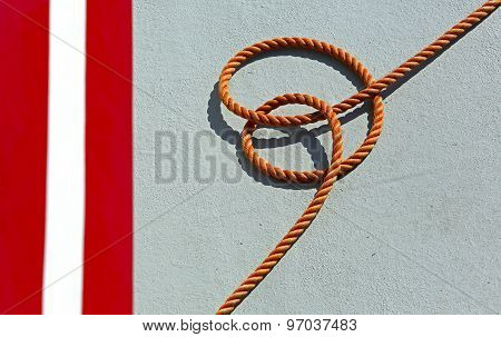 Orange Rope Fishing Boat Deck