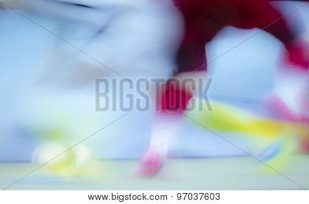 The digital blur Abstract picture. Soccer.