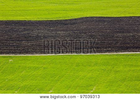 Farm Field Green Brown