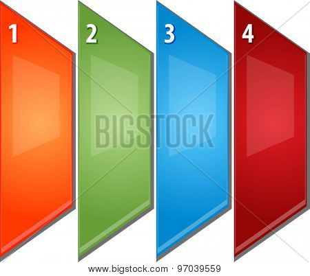 blank business strategy concept infographic diagram perspective panels numbered points illustration four 4