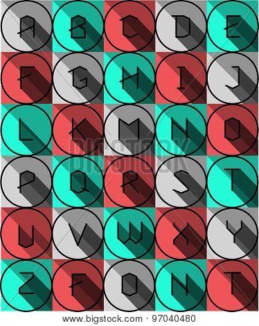 Colofrul Flat icons alphabet