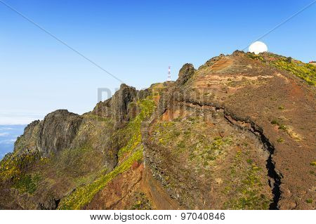Pico do Arieiro, at 1818 meters high, is Madeira island's third highest peak, Portugal