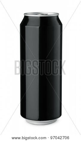 Black drink can isolated on white