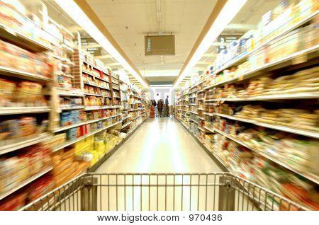 Supermarkt-Bewegung