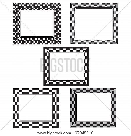 Black And White Pixel Frames