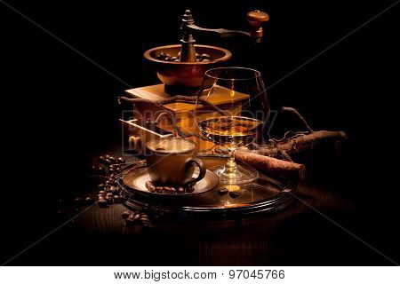 Still Life With A Cognac And Coffee