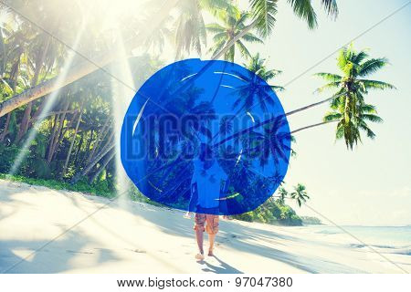 Vacation Summer Holidays Blue Marker COncept
