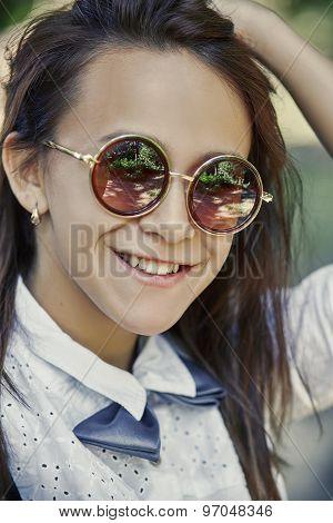 Girl Hipster Smiling