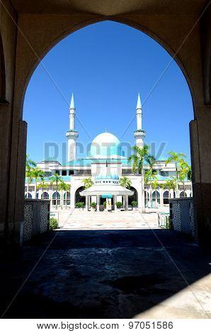 Sultan Haji Ahmad Shah Mosque a.k.a UIA Mosque in Gombak, Malaysia