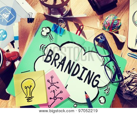 Branding Brand Copyright Trademark Marketing Concept