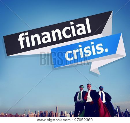 Financial Crisis Risk Investment Business Accounting Concept
