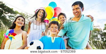 Family Happiness Holiday Vacation Activity Concept
